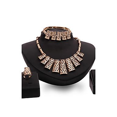 Pentru femei Set bijuterii - Punk Include Auriu Pentru Nuntă / Petrecere / Zilnic / Inele