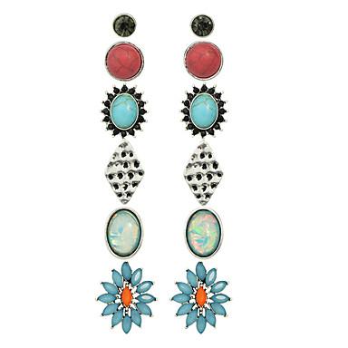 Σκουλαρίκι Κουμπωτά Σκουλαρίκια Κοσμήματα Γυναικεία Causal Κράμα 1set Πολύχρωμα
