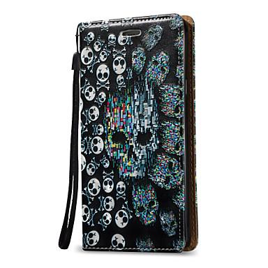 voordelige Galaxy Note 5 Hoesjes / covers-hoesje Voor Samsung Galaxy Note 5 / Note 4 / Note 3 Portemonnee / Kaarthouder / Flip Volledig hoesje Doodskoppen Hard PU-nahka