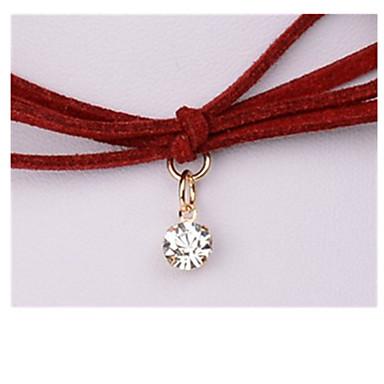 Damskie Naszyjniki z wisiorkami Kryształ Circle Shape Bowknot Shape Geometric Shape Kamień szlachetny Geometryczny Biżuteria Na Ślub