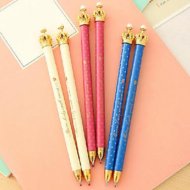 Στυλό Στυλό Στυλό διαρκείας Στυλό, Πλαστική ύλη Μπλε μελάνι Χρώματα For Σχολικές προμήθειες Προμήθειες γραφείου Πακέτο
