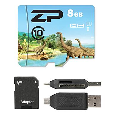 ZP 8GB بطاقة مايكرو SD بطاقة TF شريحة ذاكرة UHS-I U1 CLASS10
