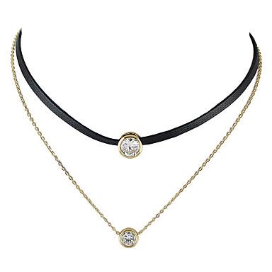 preiswerte Halsketten-Damen Halsketten Tattoo-Hals Schwimmend damas Tattoo Stil Grundlegend Modisch Aleación Gold Modische Halsketten Schmuck Für Normal