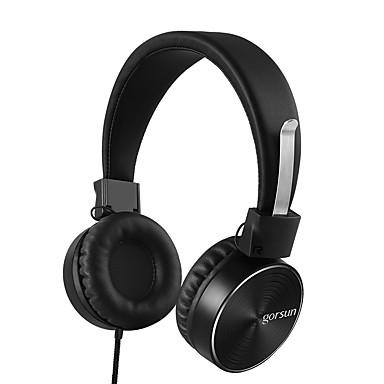 Gorsun GS-782 Pe ureche Cordeluțe Cablu Căști Dinamic Aluminum Alloy Telefon mobil Cască Cu controlul volumului -Izolarea zgomotului Cu