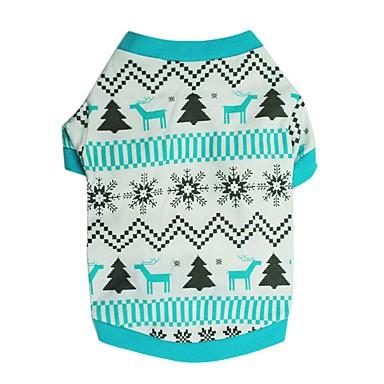 Psy T-shirt Ubrania dla psów Zima Lato Płatek śniegu Urocze Modny Święta Bożego Narodzenia Niebieski