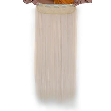 5 clips lange rechte 60 # synthetisch haar clip in hair extensions voor dames
