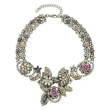 Damskie Oświadczenie Naszyjniki Stop Modny Silver Biżuteria Na Ślub Impreza Codzienny Casual 1szt