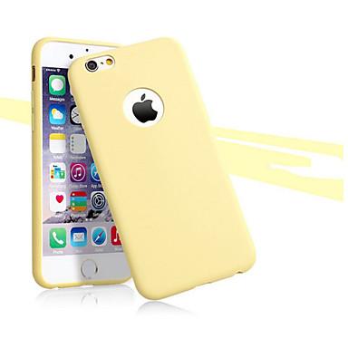 Voor iPhone X iPhone 8 iPhone 8 Plus iPhone 6 iPhone 6 Plus Hoesje cover Ultradun Achterkantje hoesje Effen Kleur Zacht TPU voor iPhone X