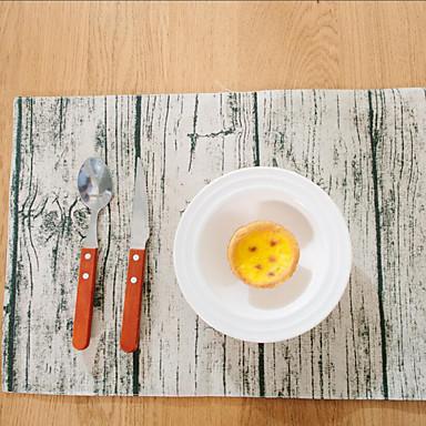 Dörtgen Çiçekli Desen Desenli Servis Altlığı , Pamuk Karışımı Malzeme Otel Yemek Masası Tablo Dceoration