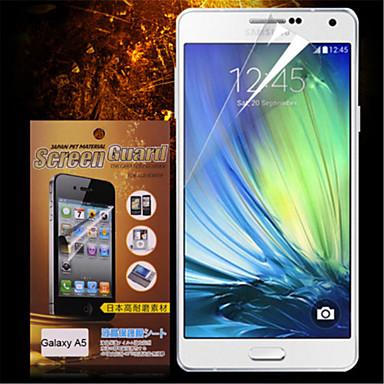 Προστατευτικό οθόνης για Samsung Galaxy A5 PET Προστατευτικό μπροστινής οθόνης Υψηλή Ανάλυση (HD)