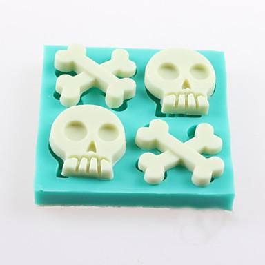 beenderen van de schedel fondant cake chocolade siliconen mallen, decoratie gereedschap bakvormen