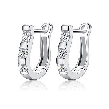 Γυναικεία Κουμπωτά Σκουλαρίκια Ζιρκονίτης Cubic Zirconia Κράμα U σχήμα Κοσμήματα Για Καθημερινά Causal