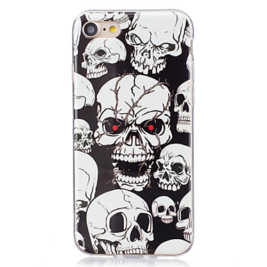 Case For Apple iPhone X / iPhone 8 Plus / iPhone 7 Glow in the Dark / IMD Back Cover Skull Soft TPU for iPhone X / iPhone 8 Plus / iPhone 8