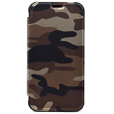 Etui Käyttötarkoitus Samsung Galaxy S7 edge S7 Lomapkko Korttikotelo Kokonaan peittävä Armeijatyyli Kova PU-nahka varten S7 edge S7