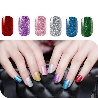2 Pcs Foil Sticker Nail Sticker Glamorous Glitter Nail Art Design