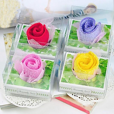 verjaardagscadeau rozen vorm fiber creatieve handdoek (willekeurige kleur)