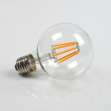 800 lm E26/E27 LED-pallolamput G80 8 ledit COB Himmennettävissä Lämmin valkoinen AC 110-130V AC 220-240V