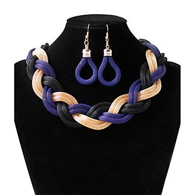 Pentru femei Circle Shape Formă Design Circular Inspirațional Punk Seturi de bijuterii Tambur Cercei Rotunzi  Aliaj Seturi de bijuterii