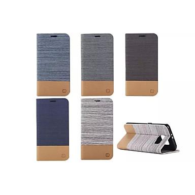 Para Samsung Galaxy Capinhas Porta-Cartão / Com Suporte / Flip Capinha Corpo Inteiro Capinha Cor Única Couro PU Samsung S6 edge