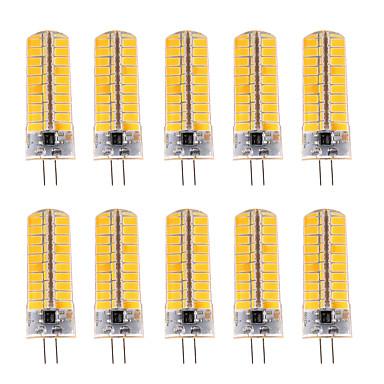 7W G4 LED Λάμπες Καλαμπόκι T 80 SMD 5730 500-700 lm Θερμό Λευκό / Ψυχρό Λευκό Με Ροοστάτη / Διακοσμητικό V 10 τμχ