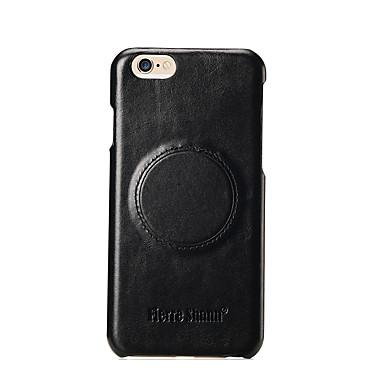Maska Pentru Apple iPhone 7 iPhone 7 Plus iPhone 6 Anti Șoc Carcasă Spate Culoare solidă Greu Piele Naturala pentru iPhone 8 Plus iPhone