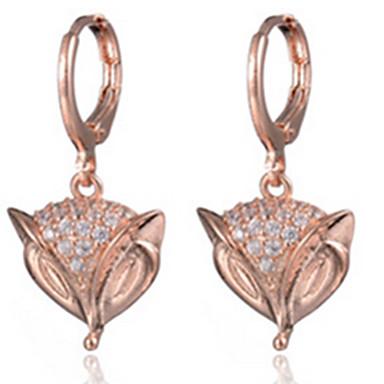 Γυναικεία Σκουλαρίκι μινιμαλιστικό στυλ Μοντέρνα κοσμήματα πολυτελείας Ζιρκονίτης Cubic Zirconia Animal Shape Αλεπού Κοσμήματα Για Πάρτι