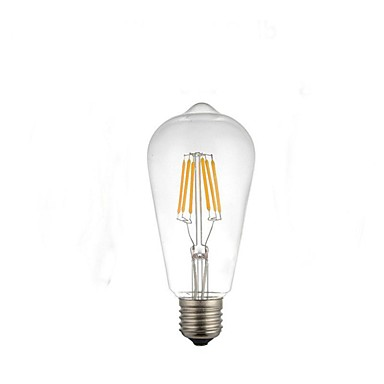 E26/E27 مصابيح كروية LED ST64 4 الأضواء طاقة عالية LED ديكور أبيض دافئ 220-280lm 2300-2700K AC 220-240V