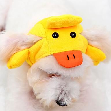 Γάτα Σκύλος Στολές Μπαντάνες & Καπέλα Ρούχα για σκύλους Χαριτωμένο Κινούμενα σχέδια Κίτρινο