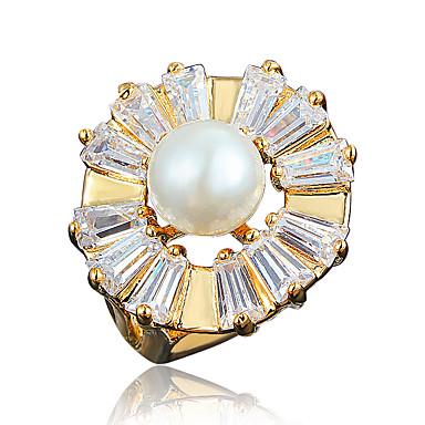 Damskie Pierscionek Pearl imitacja Pozłacane 18K złoty Biżuteria Na Ślub Impreza Codzienny Casual