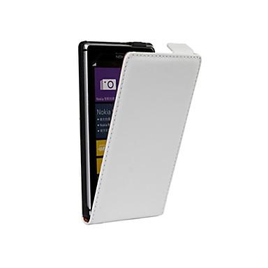 Voor Nokia hoesje Flip hoesje Volledige behuizing hoesje Effen kleur Hard PU-leer Nokia Nokia Lumia 925 / Other