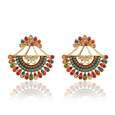 Kolczyki na sztyft luksusowa biżuteria sztuczna Diament Stop Black Rainbow Niebieski Tęczowy Biżuteria Na 1 para