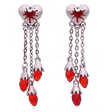 Γυναικεία Κουμπωτά Σκουλαρίκια Κρυστάλλινο Love Βρετανικό Πανκ Στυλ Κράμα Heart Shape Κοσμήματα Για Καθημερινά