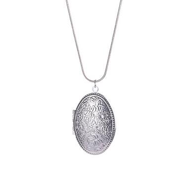 Γυναικεία Κρεμαστά Κολιέ Κοσμήματα Circle Shape Ασήμι Στερλίνας Βασικό Κυκλικό κοστούμι κοστουμιών Κοσμήματα Για Καθημερινά Causal