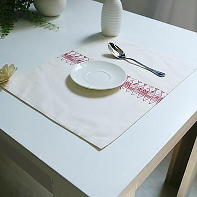 Prostokątny Wydrukować Podkładki , Mieszanka bawełny Materiał Hotel Stół Tabela Dceoration