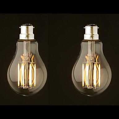 ONDENN 2pcs 8W 800 lm B22 LED-hehkulamput G60 8 ledit COB Himmennettävissä Lämmin valkoinen AC 220-240 AC 110-130 V