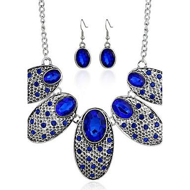Γυναικεία Σετ Κοσμημάτων Συνθετικό Aquamarine Συνθετικό ρουμπίνι Ευρωπαϊκό κοσμήματα πολυτελείας Εξατομικευόμενο Συνθετικοί πολύτιμοι
