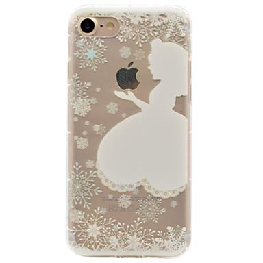 Pouzdro Uyumluluk Apple iPhone 6 iPhone 7 Plus iPhone 7 Şoka Dayanıklı Temalı Süslü Arka Kapak Oynanan Apple Logosu Yumuşak TPU için