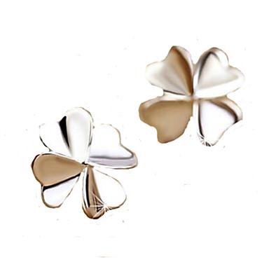 Feminino Brincos Curtos bijuterias Prata de Lei Jóias Para Casamento Festa Diário Casual Esportes