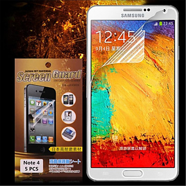 Ecran protector Samsung Galaxy pentru Note 4 PET Ecran Protecție Față High Definition (HD)