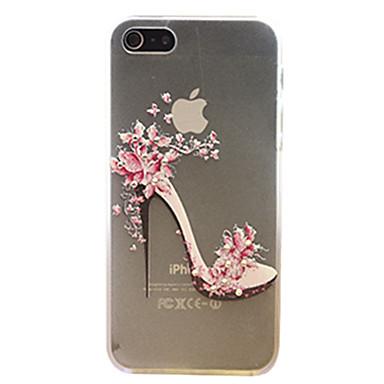 hoesje Voor iPhone 5 hoesje Strass Ultradun Doorzichtig Patroon Achterkantje Sexy dame Hard PC voor iPhone SE/5s iPhone 5