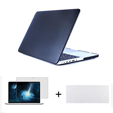 3 in 1 kunstleer bovenste oppervlak hard shell geval van de dekking + toetsenbord cover + screen protector voor de MacBook Air 11