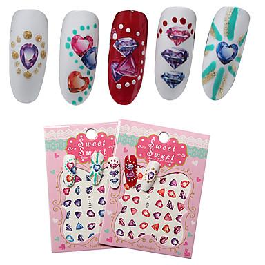 2 Sheet Nail Art tarra Veden siirto Decals meikki Kosmeettiset Nail Art Design