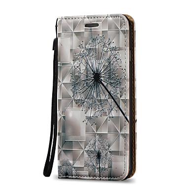 Na Etui na karty / Z podpórką / Flip Kılıf Futerał Kılıf Dmuchawiec Twarde Skóra PU na AppleiPhone 7 Plus / iPhone 7 / iPhone 6s Plus/6