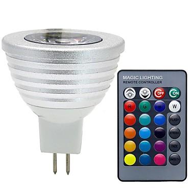 3W 280 lm GU5.3(MR16) LED Spot Işıkları MR16 1 led COB Kısılabilir Dekorotif Uzaktan Kumandalı RGB DC 12V