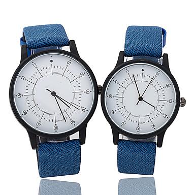 Dla par Zegarek na nadgarstek Kwarcowy / PU Pasmo Nowoczesne Na co dzień Niebieski Brązowy Zielnony Brown Green Niebieski