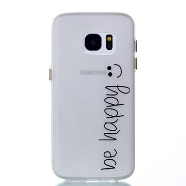 Etui Käyttötarkoitus Samsung Galaxy S8 Plus S8 Hehkuu pimeässä Takakuori Sana / lause Pehmeä TPU varten S8 S8 Plus S7 edge S7