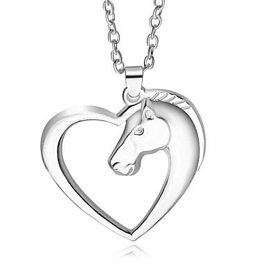 Bărbați Pentru femei - Design Unic Argintiu Coliere Pentru Petrecere Zilnic aleasă a inimii