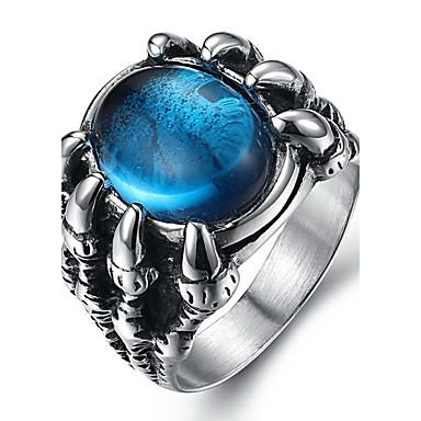 Męskie Duże pierścionki Pierscionek Modny Syntetyczne kamienie szlachetne Stal tytanowa Biżuteria Na Codzienny Casual