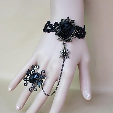 Kadın Yüzük Bileklikler Vintage Gotik Dantel Çiçek Mücevher Halloween