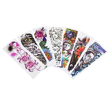 Acțibilde de Tatuaj Serie de Animale Serie de Flori Serie de totemuri Non Toxic Model Halloween Mărime Mare Waterproof Desene AnimateDame